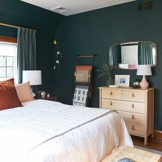 Get inspired by Modern Bedroom Design photo by AllModern. AllModern lets you find the designer products in the photo and get ideas from thousands of other Modern Bedroom Design photos. Bedroom Green, Dream Bedroom, Home Decor Bedroom, Modern Bedroom, Bedroom Furniture, Bedroom Ideas, Earthy Bedroom, Furniture Design, Queen Bedroom
