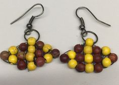 Yellow and Brown Jasper plus turquoise earrings