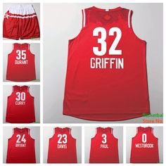 Find More Basketball Jerseys Information about 2016 All Star Game Western   32 Blake Griffin Red 96093d541