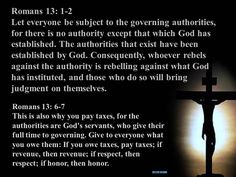 The Bible's view on the separation of church and state.