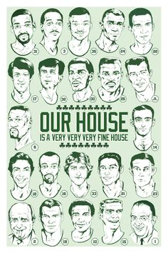 dc2a281e8 Boston Celtics Retired Numbers Illustrated Art Print - Our House.  25.00