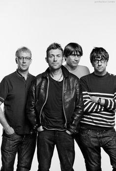 Blur photographed for Q Magazine, Ladbroke Grove, May 2012 Blur Band, Damon Albarn, Britpop, British Invasion, Sing To Me, Music People, Light Of My Life, Post Punk, My Favorite Music