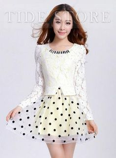 Shop Premier Slim Split Joint Fake Two Pieces Yarn Lace Dress on sale at Tidestore with trendy design and good price. Come and find more fashion Lace Dresses here. Cheap Dresses, Dresses For Sale, Two Pieces, Dress Lace, Fashion Dresses, Slim, Blouse, Shopping, Tops