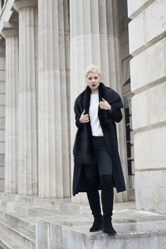 black long coat H&m Trends, Mode Blog, Primark, Fashion Bloggers, Normcore, Feminine, Street Style, Coat, My Style