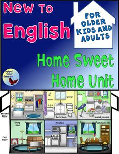 ESL EFL ~ Home Sweet Home Learn English Unit ~ Multiple exposure to English House Vocabulary + Plural Regular and Irregular Nouns in Context