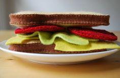 Let's Do Lunch felt sandwich pattern/tutorial. (link in the sidebar.)