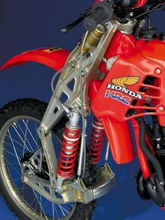 Honda CR with trailing link fork.