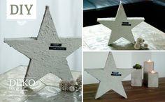 DIY: Beton-Adventsstern aus Schaumstoff selber machen mit Tutorial!