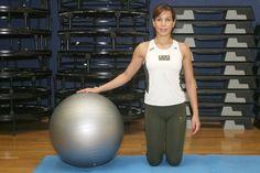 Faça pilates com bola em casa - Braços e glúteos