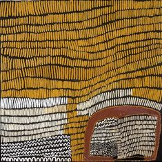 LENA NYADBI / Jimbirla and Dayiwul Ngarrangarni 50 x 150 cm Natural ochre and pigments on canvas