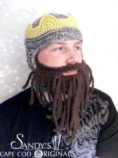 Renassiance Crown Helmet and Beard Crochet Pattern