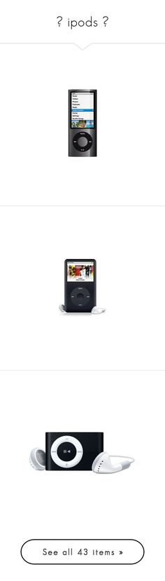"""""""☺ ipods ☺"""" by lalala273 ❤ liked on Polyvore featuring electronics, ipods, fillers, music, phones, accessories, ipod, apple, purple and blue"""