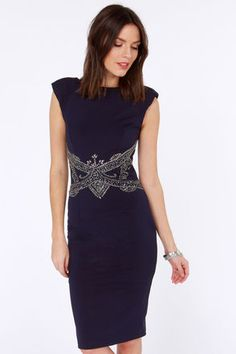 Already starting convention outfit planning!! Little Mistress Alive and Jewel Beaded Navy Blue Dress