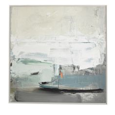 Long-tail boats used for ferrying cargo from island to island bob in the bay. And our favourite artist Ben Lowe soaked it right in. Framed Canvas Prints, Canvas Frame, Art Prints, Canvas Art, Art Abstrait, Oil Painting Abstract, Abstract Landscape, Lowes, Amazing Art