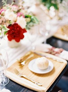 Photography: Marissa Lambert Photography - undefined Floral Design: Kim Starr Wise - undefined Wedding Venue: Marigny Opera House - undefined   Read More on SMP: /2015/11/01/organic-red-new-orleans-wedding-inspiration/