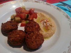 Crocchette di zucchine e porri con hummus da The Boidem