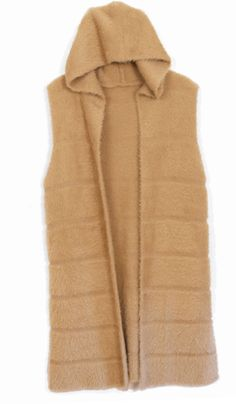 Camel Hoodie Vest One Size Fits Small - 1x