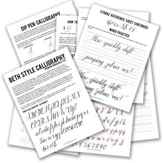 Premium Calligraphy Worksheet Set {Beth Style} | The Postman's Knock