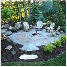 fire pit ideas can be the centerpiece to a backyard landscape. Check out some of these cool fire pit ideas for your next backyard project. Backyard Patio Designs, Backyard Projects, Backyard Landscaping, Patio Ideas, Fire Pit Landscaping Ideas, Firepit Ideas, Pergola Designs, Outside Fire Pits, Cool Fire Pits