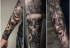 the king of tatoo: Lion Tattoo Sleeves, Sleeve Tattoos, Piston Tattoo, Coloured Rose Tattoo, Gangster Tattoos, Acrylic Painting Techniques, Tattoo Sleeve Designs, Forearm Tattoo Men, Beautiful Tattoos