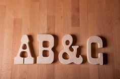 Wood Teether ABC alphabet letterpress wooden toy by littlealouette, $20.00