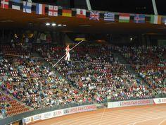 #Zurich2014, Freddy Nock Seillauf (High Wire) bei der Eröffnungsfeier der Leichtathletik EM im Letzigrund Stadion