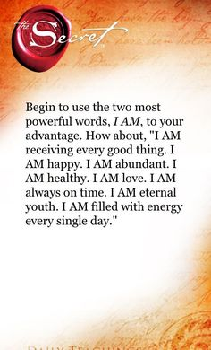 "Using ""I am"" to your advantage. Not under the egotistical definition of those words, which will only bring you problems, but use those words to lift and inspire and to talk yourself into what we truly should, but rarely do, believe ....✌▫ar"