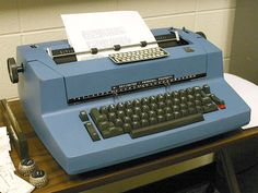 I worked for a stockbroker back in late 70's & when we moved offices I requested a Blue Golfball Selectric typewriter & was thrilled with it. Funny how some things instil nostalgia.