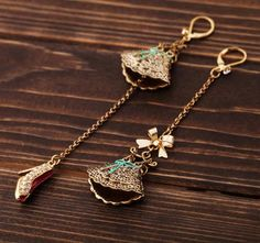 earrings accessories small skirt high-hed shoes women's earrings