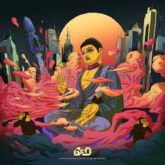 Album Covers on Behance Art Inspo, Kunst Inspo, Inspiration Art, Art Buddha, Buddha Kunst, Dancing Drawings, Art Drawings, Cover Art, Art Hippie