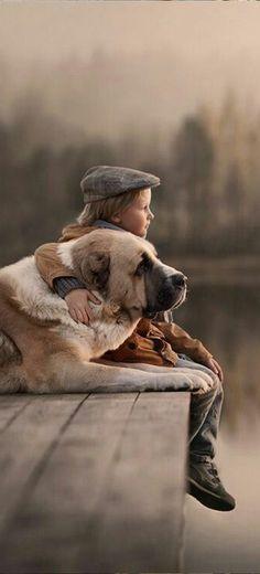 #Boy & #Dog #Friends https://www.pinterest.com/moycomp/pets-animals-puppy-dog-cat/
