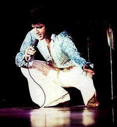 Elvis Picture - On Stage in Vegas