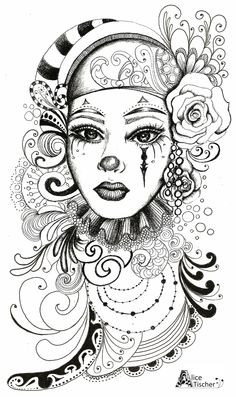 Illustration for a tatoo Skull Coloring Pages, Fairy Coloring Pages, Coloring Book Art, Animal Coloring Pages, Coloring Pages To Print, Adult Coloring, Mask Drawing, Doodle Art Drawing, Art Drawings
