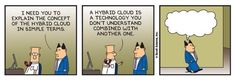 Hybrid cloud, explained by Dilbert.