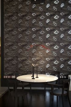 LED Wallpaper is a thing, and it's pretty awesome.  #KitchenTrends #CustomKitchenIdeas