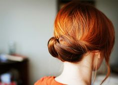 Gorgeous hair color and up-do!