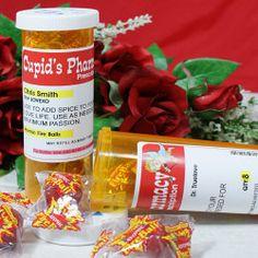 Cupid's Pharmacy Personalized Love Prescription Bottle Set
