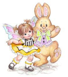 Enesco My Little Kitchen Fairies Easter Bunny Dance Figurine, 4-Inch