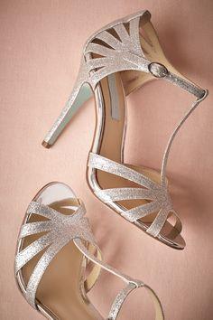 BHLDN Stardust Heels in Bride Bridal Shoes | BHLDN