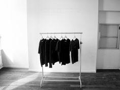 My art director's closet. Wardrobe Storage, Wardrobe Rack, Berlin Apartment, Monochrome Interior, Interior Architecture, Interior Design, Fashion Blogger Style, Closet Space, Happy Colors