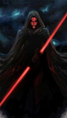 Star Wars - Darth Maul by Kate Niemczyk Star Wars Dark, Star Wars Sith, Clone Wars, Star Trek, Jar Jar Binks, Jedi Sith, Sith Lord, Marvel Comics, Star Wars Wallpaper