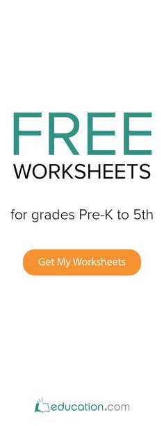 Free Printable Worksheets for Preschool-Sixth Grade in Math, English ...