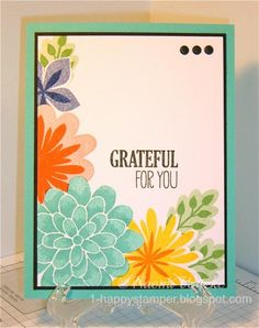 Flower Patch, For All Things, friendship, floral, Stampin' Up! Designed and created by Naomi Witzke, One Happy Stamper