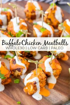 This recipe for buffalo chicken meatballs is the perfect appetizer to serve for any occasion. These meatballs are low carb, paleo and Whole30 compliant but they taste so good you wouldn't even know how healthy they are! #whole30recipes #whole30 #paleo #lowcarb #keto #buffalochicken #ketorecipes Paleo Chicken Recipes, Meat Recipes, Paleo Recipes, Whole 30 Recipes, Other Recipes, Buffalo Chicken Meatballs, Paleo Meal Prep, Dairy Free Recipes, Whole30