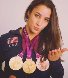 Aly with all of her Olympic medals