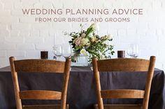 Wedding planning advice from Yuppiechef brides and grooms who've gone before you.