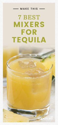 The 7 Best Mixers for Tequila Unless you're taking shots or enjoying a top-shelf extra añejo, it's not likely that you're drinking tequila straight. If you're into sipping tequila cocktails and looking for new ideas on what to mix with the Mexican spirit, Mezcal Cocktails, Tonic Cocktails, Beste Cocktails, Cocktail Drinks, Cocktail Recipes, Mexican Alcoholic Drinks, Cocktail Tequila, Paloma Cocktail, Alcoholic Desserts