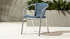 rex blue chair | CB2  i love this! deck and below?! pop of color.  pretty cool.  i like that its not navy or aqua
