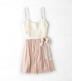 Cream AEO Lace Corset Dress: perfect party dress