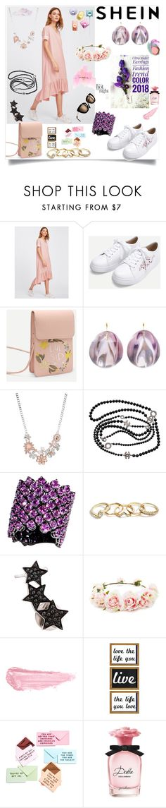 """""""Shein"""" by eldinreham on Polyvore featuring Ted Muehling, Chanel, Mix & Match, Bayco, GUESS, Alinka, Forever 21, By Terry, TEM and ban.do"""